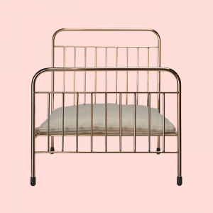 Doll Accessories Mini Eden Bed in Rose Gold