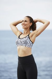 Activewear Essential Crop in Abstract Animal
