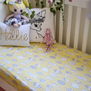 Cot Sheets Organic Jersey Fitted Cot Sheets in Fallen Leaves