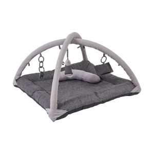 Interactive Toys Activity Play Mat Bundle in Grey Linen/Charcoal