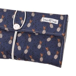 Nappy Bags Nappy Wallet in Navy Pineapple