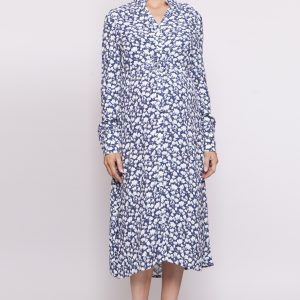 Dresses Selma Shirt Dress in Washed Blue Floral