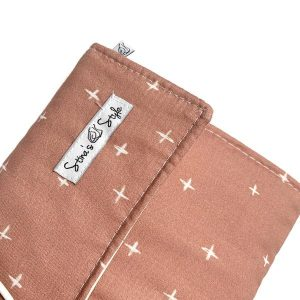 Nappy Bags Nappy Wallet in Dusty Pink Crosses