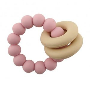 Teethers Halo Teether in Light Pink