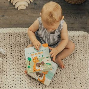 Books 'Be Active' Interactive Touch + Feel Mizzie Baby Board Book