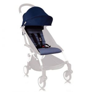 Single Prams + Strollers BABYZEN YOYO 6+ Seat Pad and Canopy Only in Air France Navy