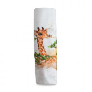 Swaddles + Baby Wraps Portrait Of A Giraffe Organic Cotton/Bamboo Swaddle