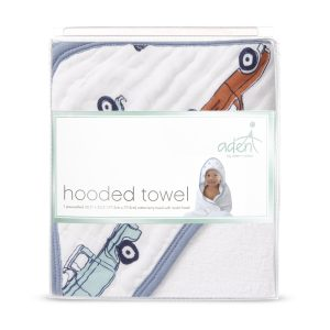 Towels + Face Washers Aden Hit The Road Hooded Towel