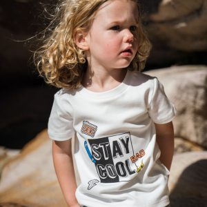 Boys Tops Organic Cotton Stay Cool T-Shirt in Natural White