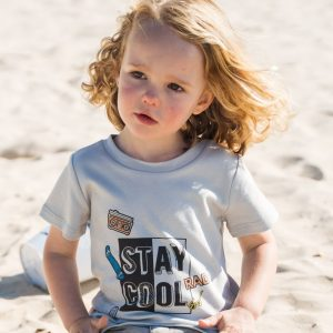 Boys Tops Organic Cotton Stay Cool T Shirt in Grey