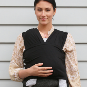 Baby Carriers BabyDink Classic Organic Baby Carrier in Black 21