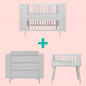 Bassinets, Cradles + Co-Sleepers PRE ORDER | Incy Interiors Maxwell White Bundle