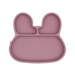 Plates + Bowls Bunny Stickie Plate – Dusty Rose