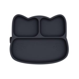Plates + Bowls Cat Stickie Plate – Charcoal
