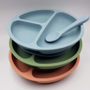Dinnerware STICK IT! Divider Silicone Suction Plate | BPA Free