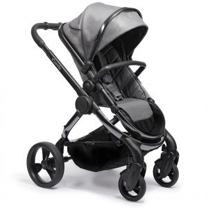 Double Prams + Strollers iCandy Peach 2020 in Grey Twill