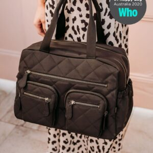 OiOi Carry All Carry All Black Diamond Quilt Nappy Bag (PRE-ORDER MID OCTOBER)