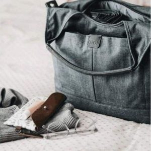Bags Tote Slouch Nappy Bag in Denim Grey