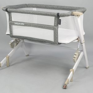 Bassinets, Cradles + Co-Sleepers Bedside Sleeper With Mattress In White Wash