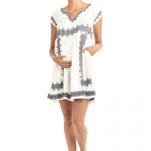 Dresses Isla Embroidered Maternity Day Dress