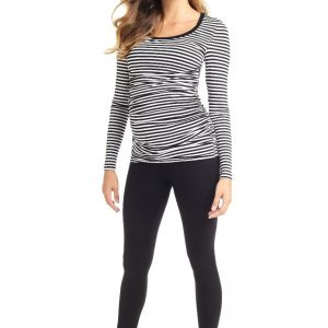 Tops Cameron Long Sleeved Striped Maternity & Nursing Top