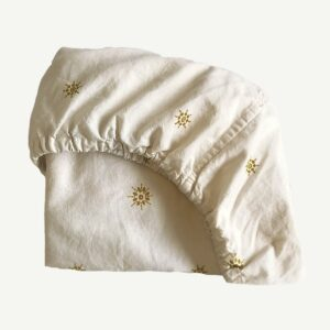 Bassinet Sheets Celestial Gold Fitted Bassinet Sheet/Changing Pad Cover