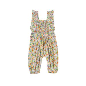 Girls Bottoms Mia Playsuit in Multi Bright Coloured Floral