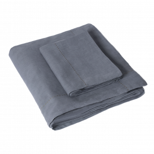 Quilts Washed Linen Single Quilt Set in Slate
