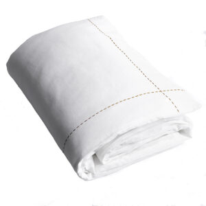 Quilts 100% Linen Single Quilt Set in White