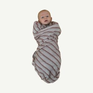 Swaddles + Baby Wraps Ghost Gum Stripe Bamboo/Organic Cotton Swaddle