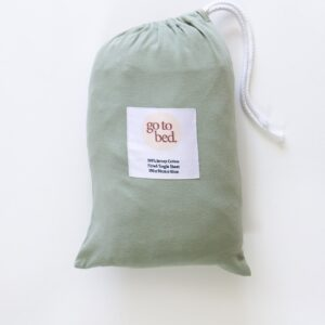 Bed Sheets Fitted Single Sheet in Sage