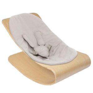Rockers + Bouncers Coco Stylewood Natural Frame with Frost Grey ORGANIC Seat Pad