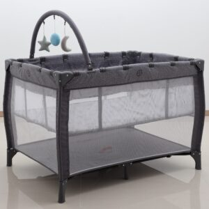 Portacots 3 in 1 Portacot Brushstrokes Grey (INSIDE AND OUTSIDE PLAY)
