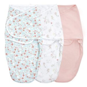 Swaddles + Baby Wraps Essentials Wrap Swaddle 3pack in Fairy Tale Flowers 4-6 months