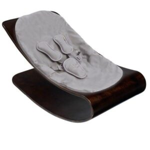Best Sellers Coco Stylewood Cappuccino Frame with Frost Grey ORGANIC Seat Pad