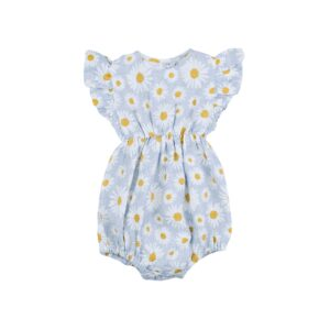 Rompers + Playsuits Lani Linen Romper Daisy Sky Print