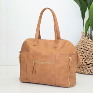 Nappy Bags Chelsea Convertible Tote/Backpack Nappy Bag in Tan