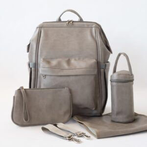 Nappy Bags Vintage Nappy Backpack in Grey