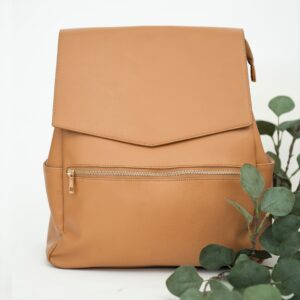 Nappy Bags Classic Nappy Backpack in Tan