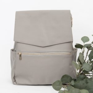 Nappy Bags Classic Nappy Backpack in Grey