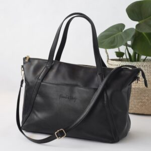 Nappy Bags Catherine Carryall Tote/Nappy Bag in Black