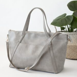 Nappy Bags Catherine Carryall Tote/Nappy Bag in Grey