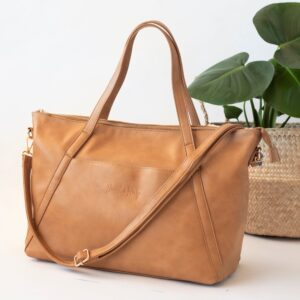 Nappy Bags Catherine Carryall Tote/Nappy Bag in Tan
