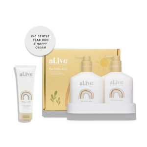 Baby Skincare Baby Duo (Hair/Body Wash & Lotion + Tray – Gentle Pear) + Nappy Cream