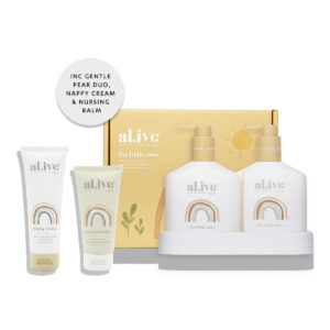 Baby Skincare Baby Duo (Hair/Body Wash & Lotion + Tray – Gentle Pear) + Nappy Cream + Nursing Balm