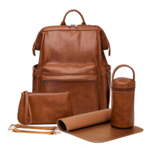 Nappy Bags PRE ORDER | Vintage Nappy Backpack in Tan