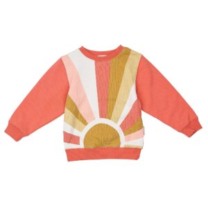 Baby Tops Sunrise Relaxed Sweater Peach Pink