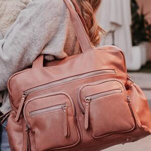 OiOi Carry All Faux Leather Carry All Nappy Bag - Dusty Rose (PRE-ORDER)