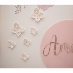 Art, Clocks + Wall Décor Butterfly wall decals – French white   Set of 6