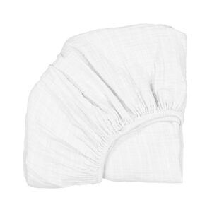 Bassinet Sheets White Fitted Sheet for KUMI Cradle